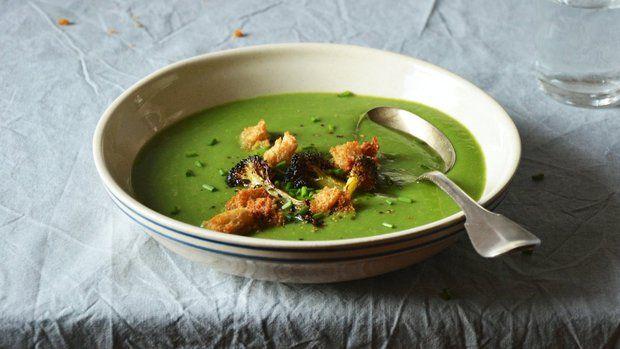 Brokolicovo-špenátová polévka
