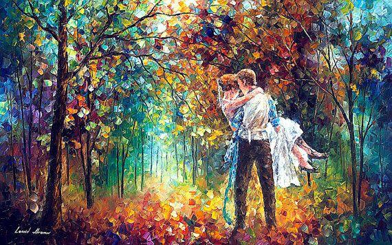 Schrieber — Large Size Romantic Landscape Oil Painting On Canvas By Leonid Afremov. #art #SaturdayMorning