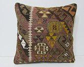 kilim pillow 18x18 rustic pillow case aztec pillow cover kilim pillowcase indie pillow chair cushion cover bohemian pillow cover boho 25140