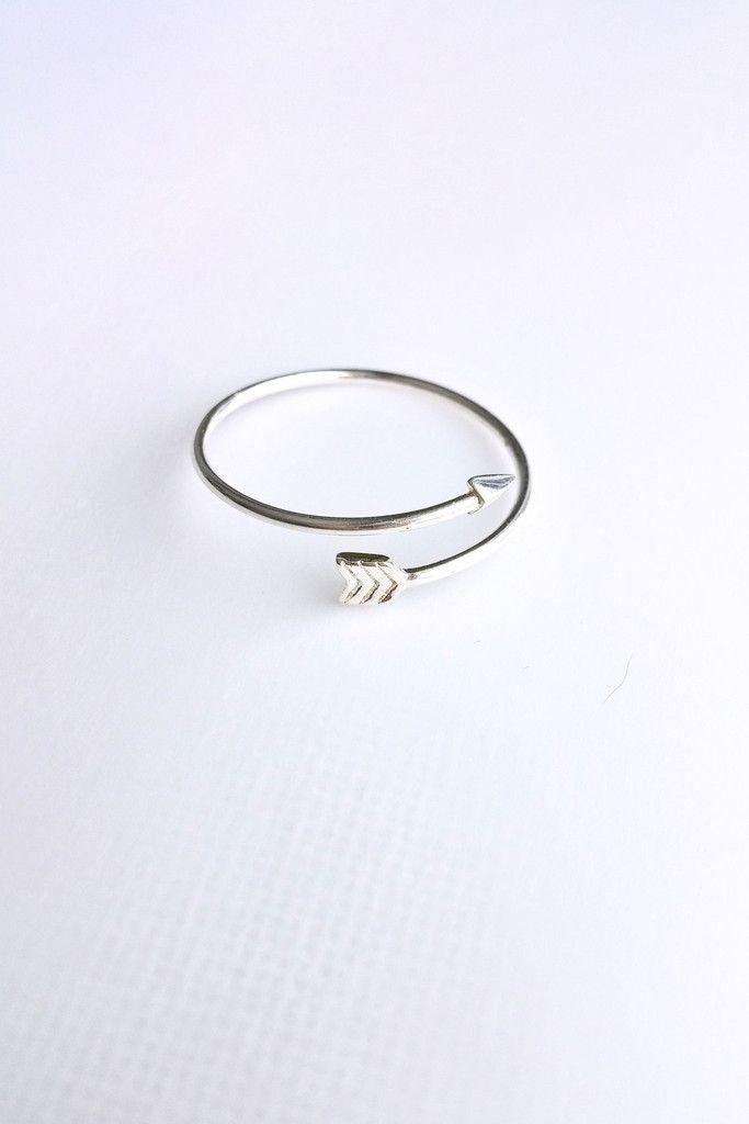 925 Fine Silver Arrow Ring