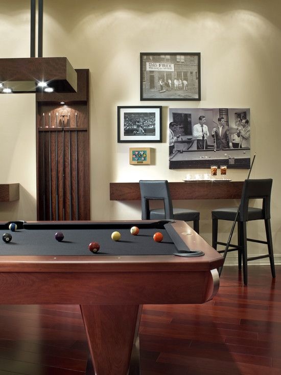 1000 images about game room ideas on pinterest wall for Small pool table room ideas