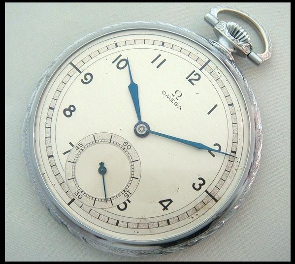 オメガ[om472]希少本物 アンティーク懐中時計1930年代 彫金 Watch omega ¥79800yen 〆04月01日