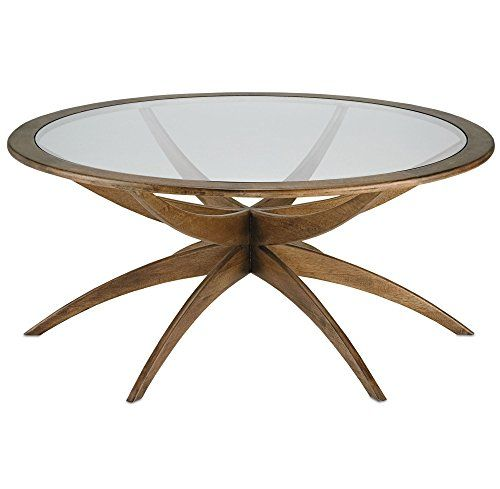 Henry Mid Century Modern Weathered Walnut Round Coffee Table   42 Inch