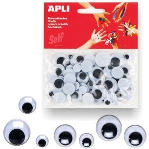 Ojos moviles Apli negros - ojitos para manualidades http://www.selfpaper.com/html/ojos-moviles-apli-negros-ojitos-manualidades-g.html