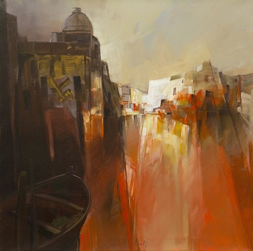 Sogno     Artist   Pietro Piccoli      Subject   Venice     Medium   Acrylic/Oil on Canvas     Category   Painting     Dimensions   H 27.5in x W 27.5in