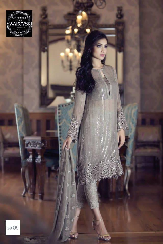 2015 Mbroidered Eid Maria B Dresses Gallery