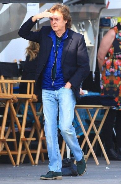 January 27, 2014 Paul McCartney enroute to The Grammys Tribute to The 50th anniversary of the Beatles' appearance on Ed Sullivan