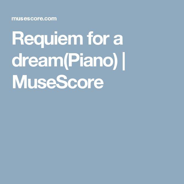 Requiem for a dream(Piano)   MuseScore