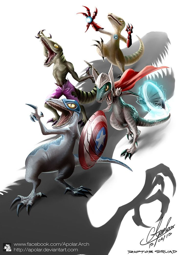 Raptor Squad : Age of Jurassic by Apolar on DeviantArt