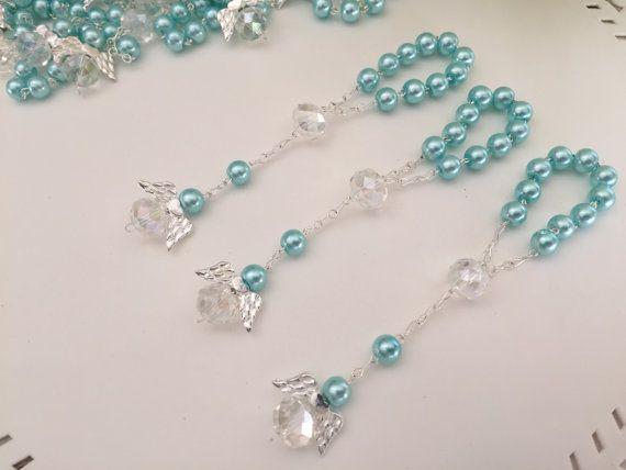 15 pièces baptême ange favorise / light blue communion des