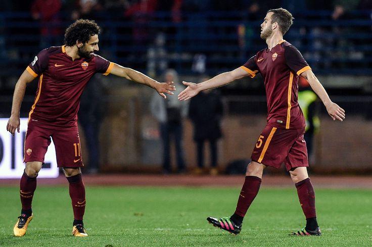 @asroma La Roma trova la sesta vittoria consecutiva grazie alla doppietta di Stephan El Shaarawy e la gemma di Miralem Pjanić. L'autorete di Zukanovic aveva illuso l'Empoli #9ine