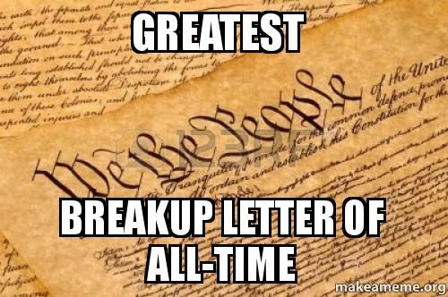 241 years ago the greatest break up letter of all time was written.