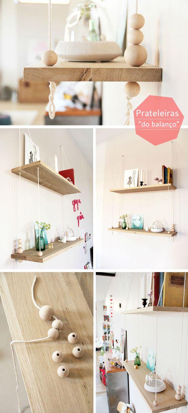 Inspiração: DIY Prateleiras Balanço « Maria Mole