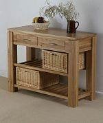 Galway Natural Solid Oak Console Table with Storage