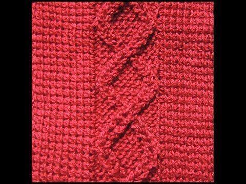 Crochet Tunecino : Trenza # 3.  Parte 1 de 2