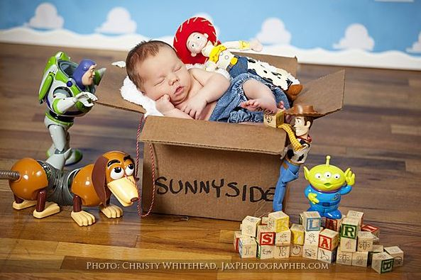 Toy Story Newborn Photo Idea | 22 Gloriously Geeky Newborns Who Are Already Winning At Life