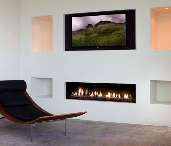 Modern fireplaces and Gas wall fireplace