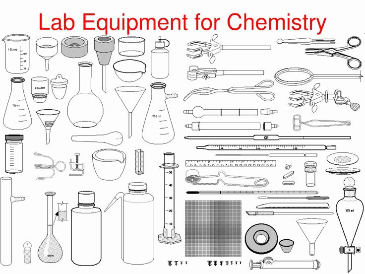 Science Tools Coloring Page In 2020 Chemistry Lab Equipment