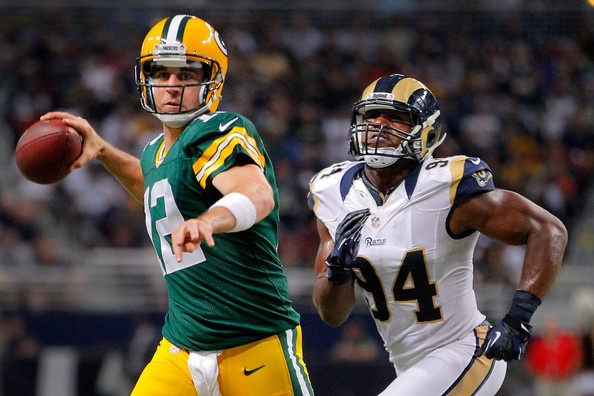 Aaron Rodgers Photo - Green Bay Packers v St Louis Rams