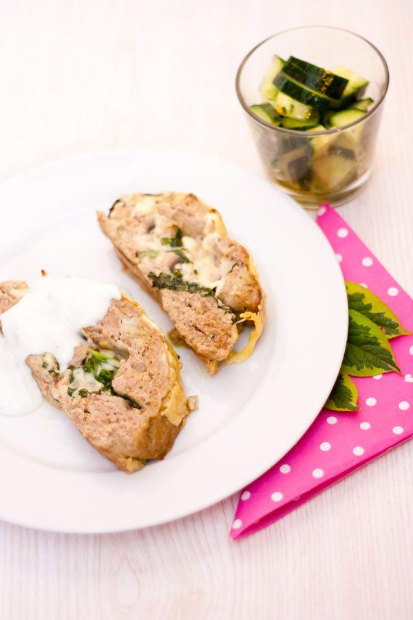 LowCarb Hackbraten gefüllt mit Spinat & Käse – Low Carb Köstlichkeiten