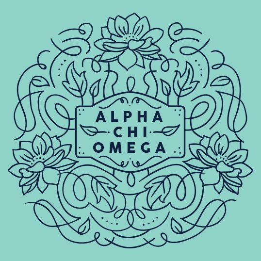 Alpha Chi Omega ornate design - would be great for a bag or accessory