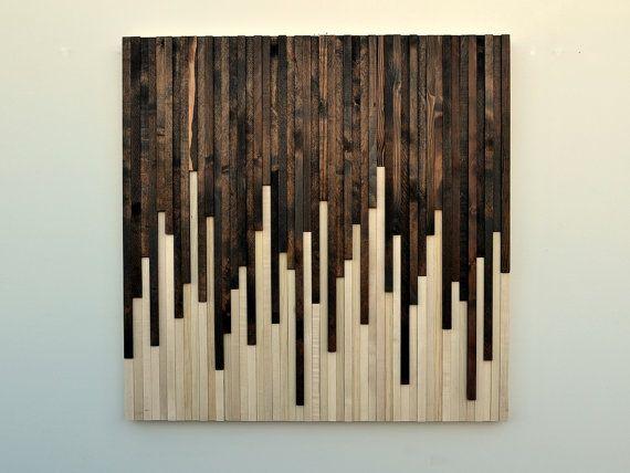Cloison en bois rustique Art  Installation par moderntextures, $625.00