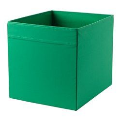 IKEA - DRÖNA, Box, green, When the box is not in use and you want to save space, simply open the zipper in the bottom and fold it flat.