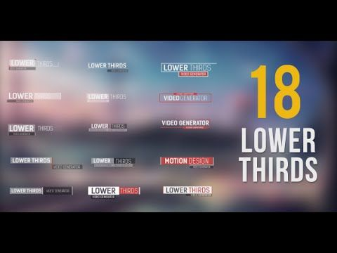 18 Lower Thirds | After Effects template