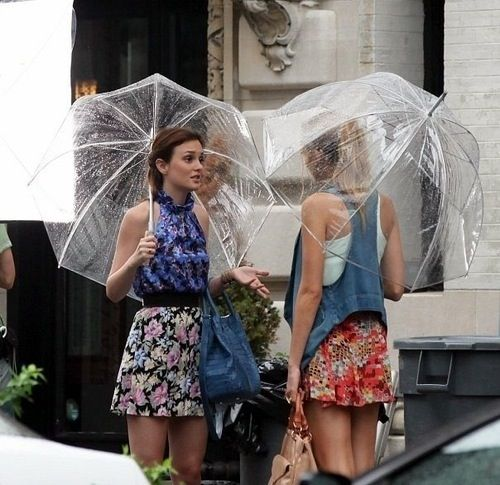 Image result for serena and blair clear umbrellas