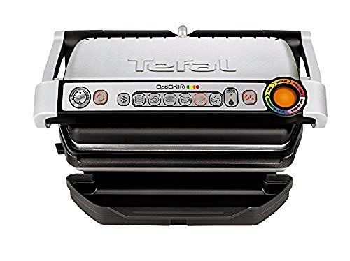 Tefal GC713D40 Stainless Steel OptiGrill Plus Health Grill with Automatic Thickness and Temperature Measurement, 2000 W - Silver