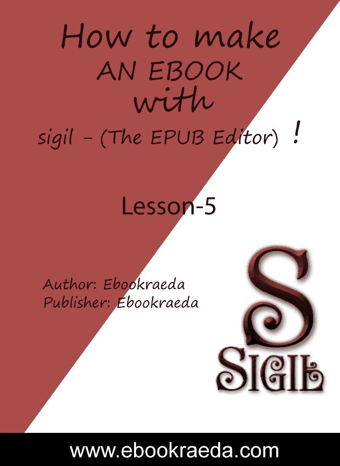 How-to-make-an-ebook-with-Sigil-(The-EPUB-Editor) ! Lesson-5 (Reflowable) Ebookraeda