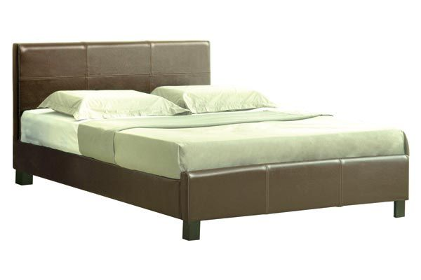 Bedworld Discount Sheraton Brown Faux Leather Bed Frame Double 135cm Sheraton Brown Faux Leather Bed Frame is a stylish and affordable faux leather bed at a great price available in 4'6ft and 5ft. Part of our faux leather beds collection it comes with wooden slats t http://www.comparestoreprices.co.uk/bedroom-furniture/bedworld-discount-sheraton-brown-faux-leather-bed-frame-double-135cm.asp