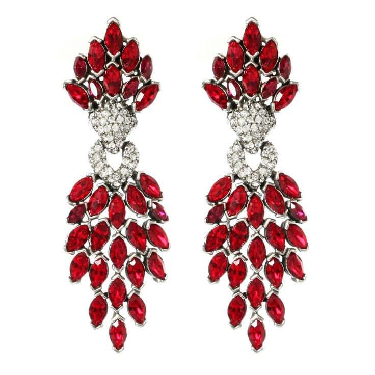 124 best earrings images on pinterest earrings ears and crystal ruby cascading crystal earrings so elaborate aloadofball Image collections