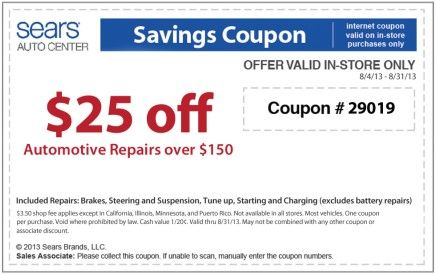 Sears wheel alignment coupon 2018