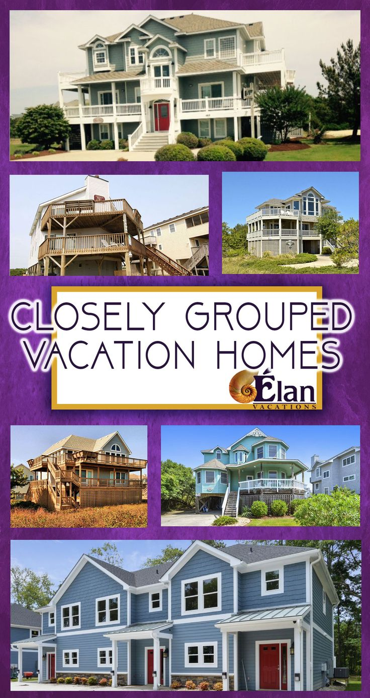 Planning a large family gathering? Need more than one OBX beach vacation rental...but still want them close together? We have you covered.