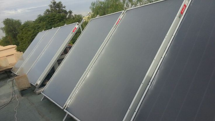 Solar thermal panels to heat a pool