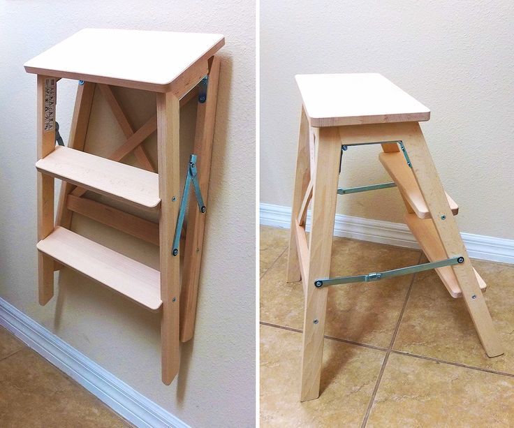 give yourself a step up to high shelves or cabinets with the bekvam folding ladder