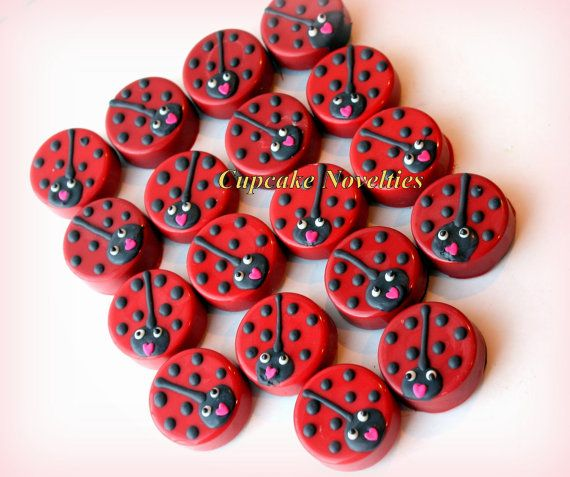 Online Shipping! A sweet Valentines Day surprise for your loved ones! Delicious Chocolate-covered Oreos in the form of cute ladybugs / lovebugs- Great party favors or dessert table treats!