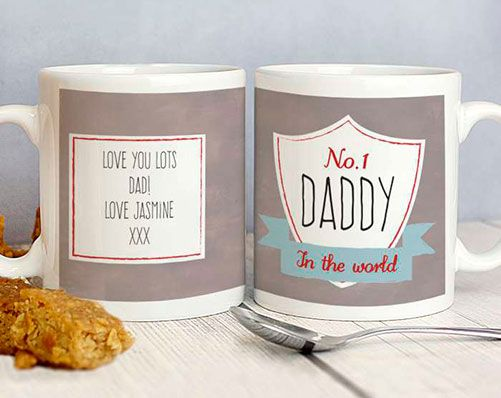 No.1 Shield Mug #fathersday #dad #daddy #grandad #stepdad  #pa #papa