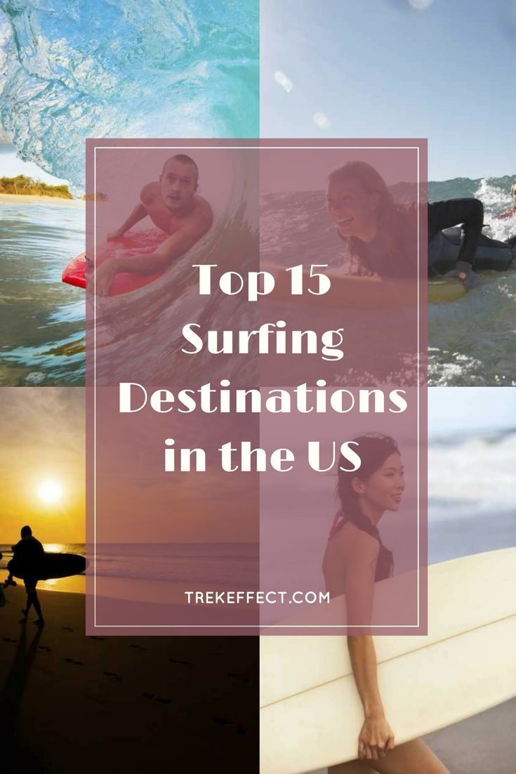 Next time you road trip across the country, make sure you have your surfboard along for the ride as well! The US is home to some of the world's best surfing destinations, and the great waves aren't limited to one corner of the map.