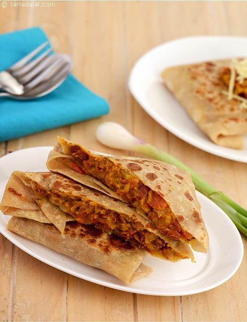 Rajma Cheese Parathas recipe | Healthy Recipes | by Tarla Dalal | Tarladalal.com | #5619
