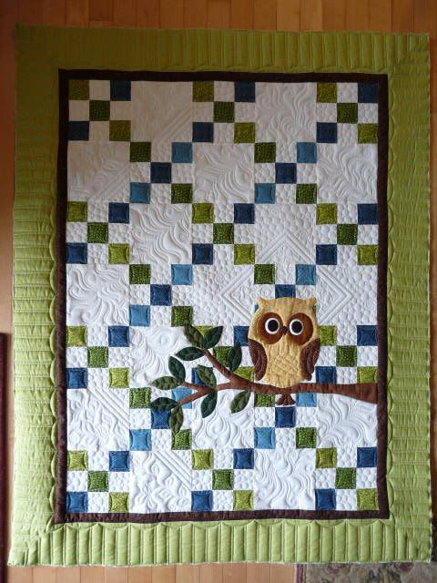 Darling baby quilt - beautiful machine quilting