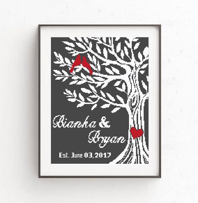 49 best wedding cross stitch images on Pinterest   Cross stitch ...