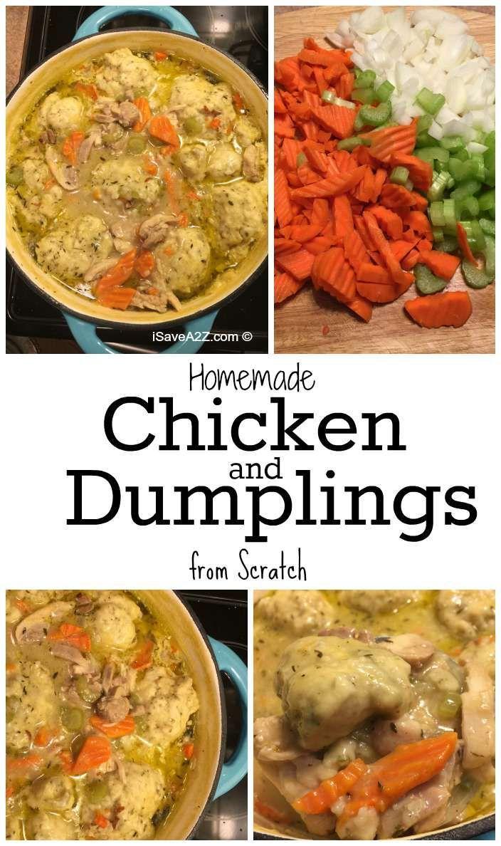 Homemade Chicken and Dumplings from Scratch - iSaveA2Z.com