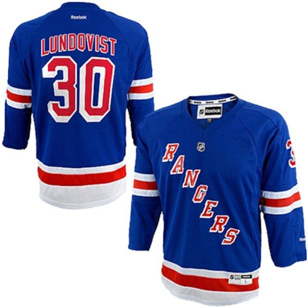 Henrik Lundqvist New York Rangers Reebok Youth Replica Player Hockey Jersey  - Blue  NewYorkRangers 9d0047c9c