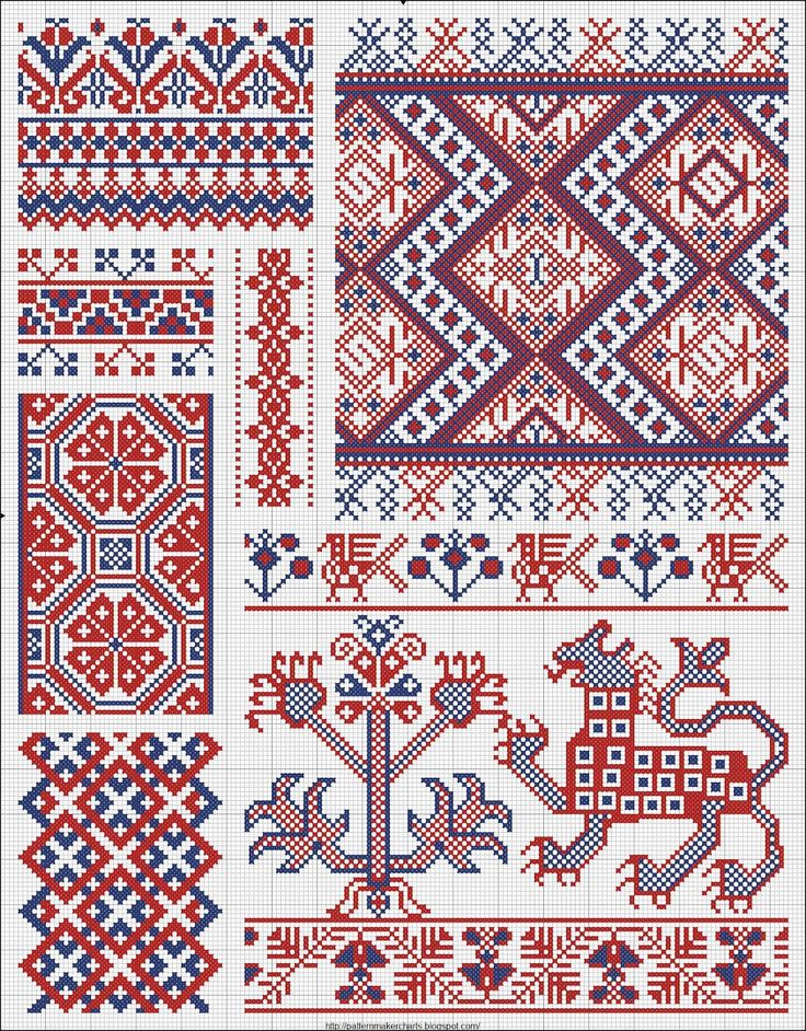 Collected velikorusskih and malorossiyskih patterns for embroidery    could be great patterns for tunisian crochet