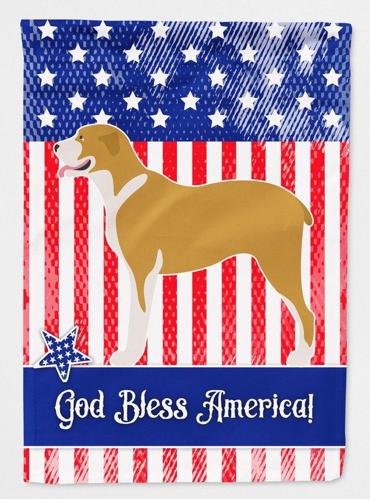 Belgium Mastiff American Flag Garden Size BB8408GF