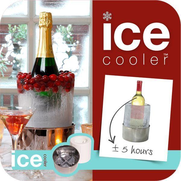 Wijnkoeler / Drankenkoeler van ijs #wijnkoeler #kadoidee