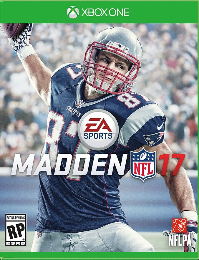 Rob Gronkowski will be on the Madden 17 Cover