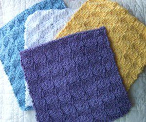 Jelly Roll Knitted Washcloth Pattern | AllFreeKnitting.com